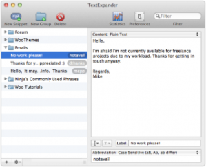 TextExpander saves loads of time