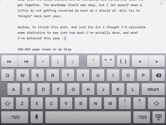 iA Writer on the iPad