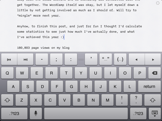 iA Writer on the iPad
