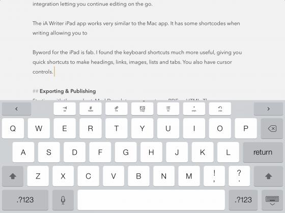 Byword on the iPad