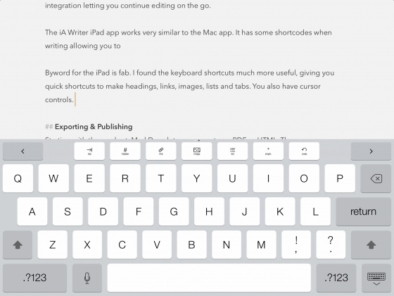 Byword on the iPad